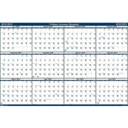 "Academic House of Doolittle 37""H x 24""W Wall Calendar, Blue and White (395)"