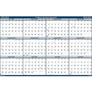 "Academic House of Doolittle 24""H x 18""W Wall Calendar, Blue and White (3965)"