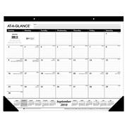 "Academic AT-A-GLANCE 17""H x 21.75""W Desk Pad Calendar, Black (SK2416-00)"