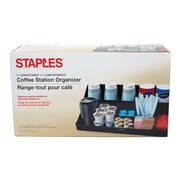 Staples Plastic Coffee Organizer, Black (COMORGBLK)