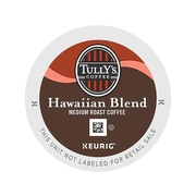 Tully's Coffee Hawaiian Blend Coffee, Keurig® K-Cup® Pods, Medium Roast, 96/Carton (66064)