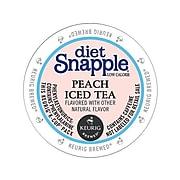 Snapple Diet Peach Iced Tea, Keurig K-Cup Pods, 22/Box (6622)