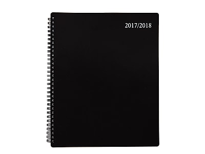 """2017 Staples 11""""H x 8.5""""W Academic Planner, Accel, Assorted (29438-17)"""