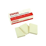 """Staples Stickies Standard Notes, 1.38 x 1.88"""", 100 Sheets/Pad, 12 Pads/Pack (S152YR/1252554)"""