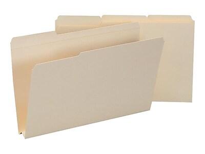 Smead Reinforced File Folders, 3-Tab, 1-1/2