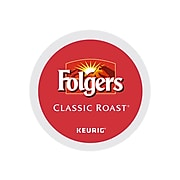 Folgers Classic Roast Coffee, Keurig® K-Cup® Pods, Medium Roast, 96/Carton (204496)