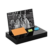 """Post-it® Pop-up Notes and Flag Dispenser with Photo Frame for 3"""" x 3"""" Notes, Black (PH-100-BK)"""