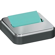 """Post-it® Pop-up Notes Dispenser for 3"""" x 3"""" notes, Black with Steel Top (STL-330-B)"""