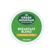Green Mountain Coffee Roasters Breakfast Blend Coffee, Keurig® K-Cup® Pods, Light Roast, Decaf, 24/Box (5000082433/7522)