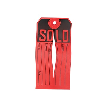 Avery 4.75  Sold Sale & Clearance Tags, Red/Black, 500/Bx (15161)