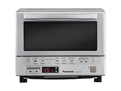 Panasonic FlashXpress 4-Slices Toaster Ovens, Silver (NB-G110P)