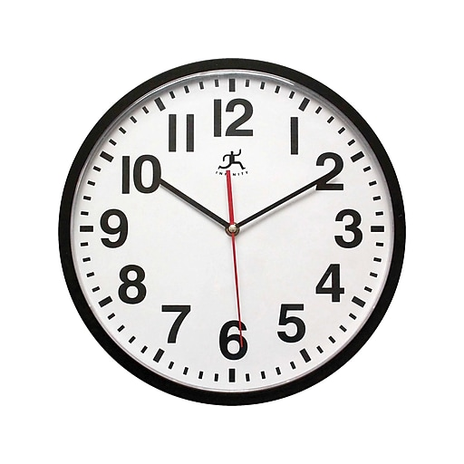 "Infinity Instruments Pure Wall Clock, 13""Dia. (15018BK-4017)"