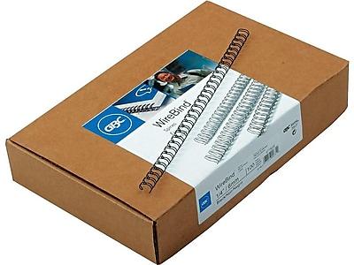 GBC WireBind Wire Binding Spine, 40 Sheets, 100/Box (9775008)