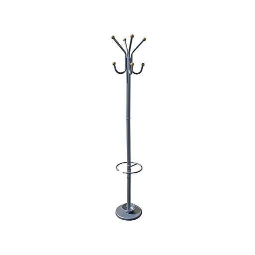 Ore International Home Decorators Collection Coat Tree Silver Metal R673