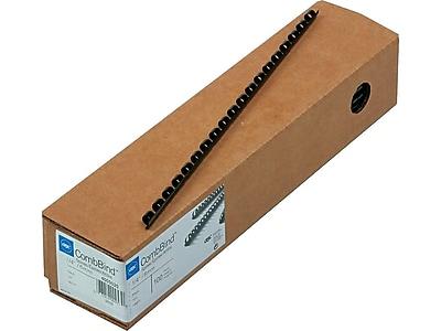 Swingline 4200010 CombBind Standard Spines Black 100//Box 1-1//2 Diameter 330 Sheet Capacity