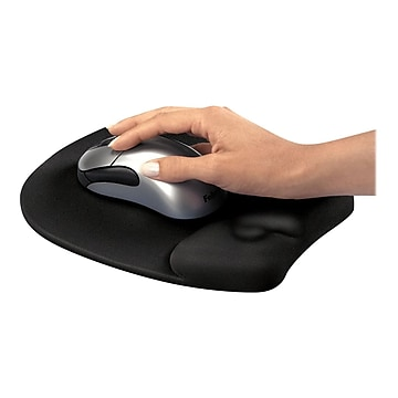 Fellowes Foam Mouse Pad/Wrist Rest Combo, Black (9176501)
