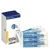"""First Aid Only SmartCompliance 1.5""""W x 3""""L Knuckle Metal Detectable Bandages, 20/Box (FAE-3030)"""