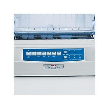 OKI 400 Series Microline 420 USB/Parallel Monochrome Dot Matrix Printer, White (62418701)