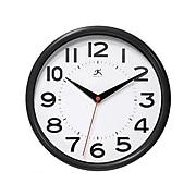 """Infinity Instruments Metro Wall Clock, 9""""Dia. (14220BK-3364)"""