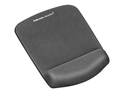 Fellowes PlushTouch Foam Mouse Pad/Wrist Rest Combo, Graphite (9252201)