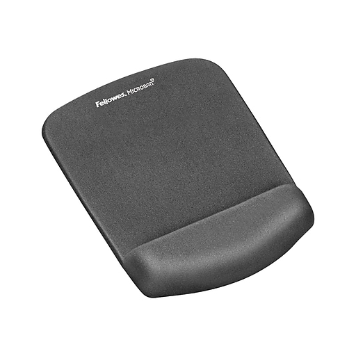 fellowes plushtouch mouse pad wrist rest with foamfushion technology