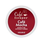 Cafe Escapes Mocha Coffee, Keurig® K-Cup® Pods, 24/Box (6803)