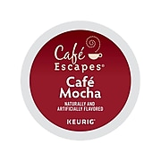 Cafe Escapes Café Mocha Coffee, Keurig K-Cup Pods, 24/Box (6803)