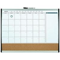 Deals on Staples 2x1.5ft Magnetic Cork & Dry Erase Calendar Whiteboard