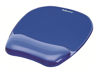 Fellowes Crystals Gel Mouse Pad/Wrist Rest Combo, Blue (91141)