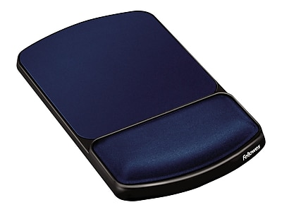 Fellowes Gel Mouse Pad/Wrist Rest Combo, Sapphire/Black (98741)