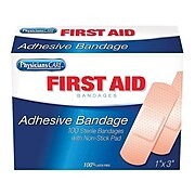 "First Aid Only 1""W x 3""L Adhesive Bandages, 100/Box (90097)"