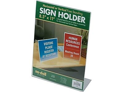 NuDell Sign Holder, 8.5
