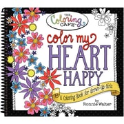 CCQ Products Coloring Book The Coloring Cafe', Color My Heart Happy (CQCBK-2501)