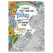 """Tobin Adult Coloring Canvas Be Happy, 16"""" x 20"""" (108-01-17)"""