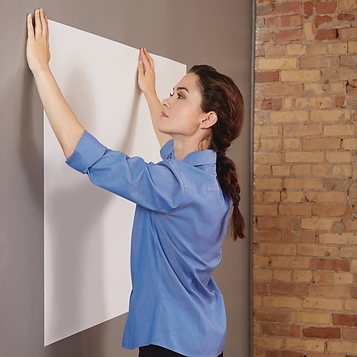 Quartet® Anywhere™ Repositionable Dry-Erase Surface, Self-Adhesive Sheets,  3' x 2' (R85532)