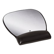 """3M™ Precise™ Mouse Pad with Gel Wrist Rest, Optical Mouse Performance, Battery Saving Design, 8.7"""" x 9.2"""", Vertex (MW310LE)"""