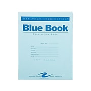"""Roaring Spring Blue Exam Book, 7"""" x 8.5"""", Wide Rule, 12 Sheets, Blue (77513)"""