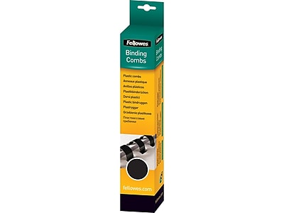 Fellowes 52395 Binding Comb 50 Count Black