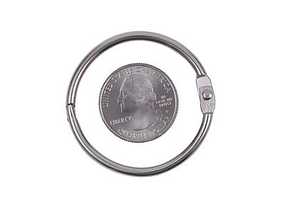 """1/"""" 1/"""" 100-Count 100-Count Silver Book Rings"""