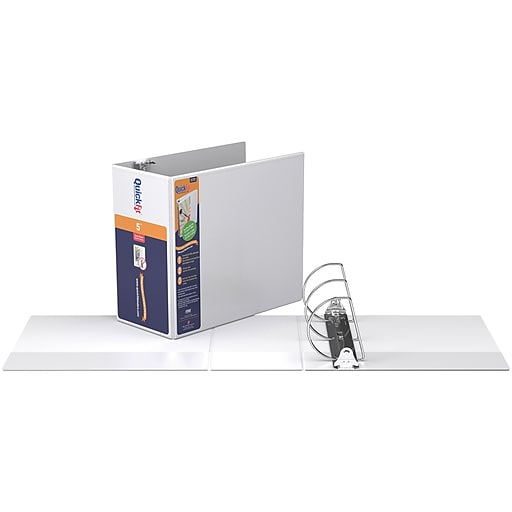 stride quickfit 5 inch d 3 ring view binder white 87070 staples