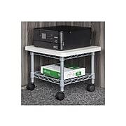 Safco Under-Desk 1-Shelf Steel Mobile Printer Stand, Gray (5206GR)