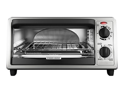 Black & Decker 4-Slice Toaster Oven, Silver (TO1322SBD)
