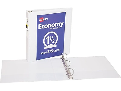 Avery Economy View Binder with 1-1/2