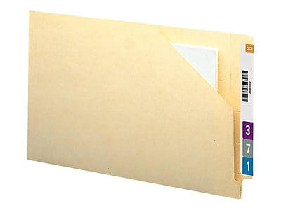 Smead End Tab File Jackets, Reinforced Straight-Cut Tab, 1.5