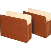 """Staples Expanding File Pockets, 5.25"""" Expansion, Letter Size, Brown, 10/Box (418335/1534G10S)"""