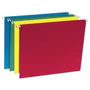 Staples Recycled Hanging File Folders, 5 Tab, Letter Size, Assorted, 20/Box (452827)