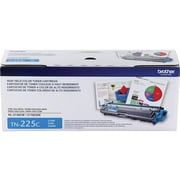 Brother TN 225C Cyan Toner Cartridge, High Yield