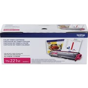 Brother TN 221M Magenta Toner Cartridge, Standard