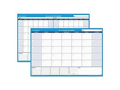 """Undated AT-A-GLANCE 32""""H x 48""""W Wall Calendar, XL 30-60 Day, Blue (PM333 28)"""