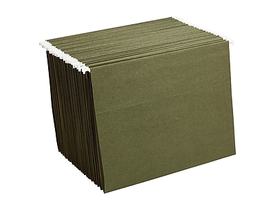 Staples Hanging File Folders, Letter Size, Standard Green, 25/Box (521229)